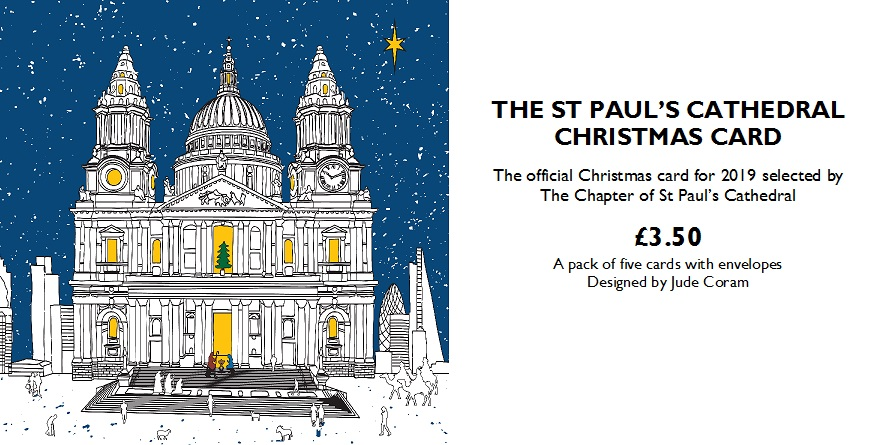 St Paul's Cathedral Christmas Card 2019