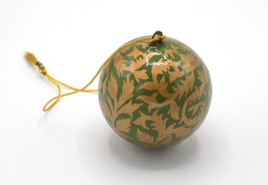 St Paul's Cathedral Fair Trade Kashmir Green Bauble