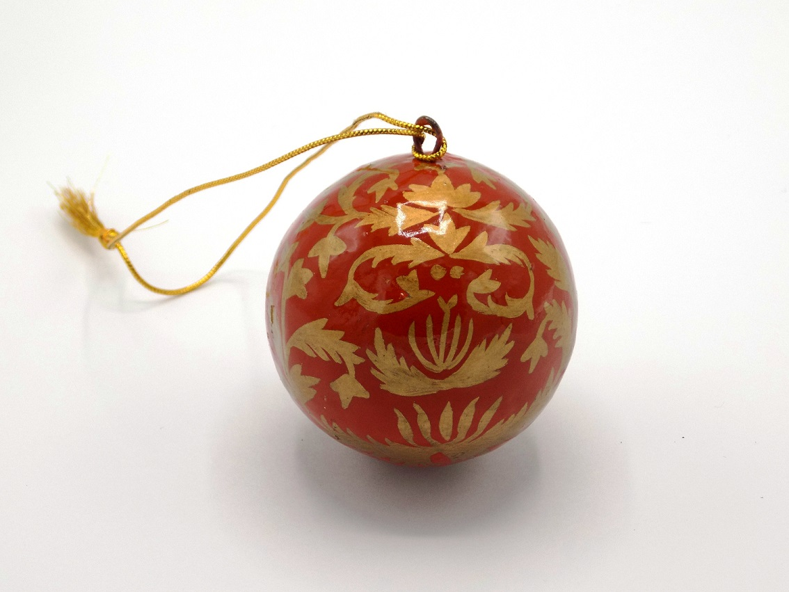 St Paul's Cathedral Fair Trade Kashmir Red Bauble