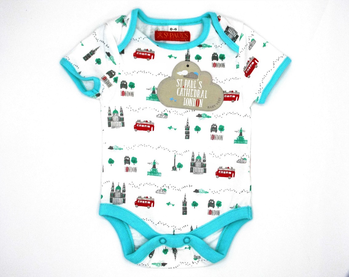 St Paul's Cathedral Babywear - Vest