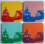 St Paul's Cathedral Snowden Flood Coaster Set